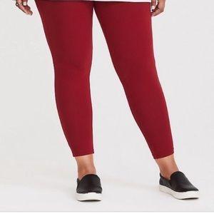 Torrid l Red Cropped Leggings